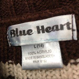 Blue Heart Dresses - Blue Heart Brown & Cream Striped Sweater Dress